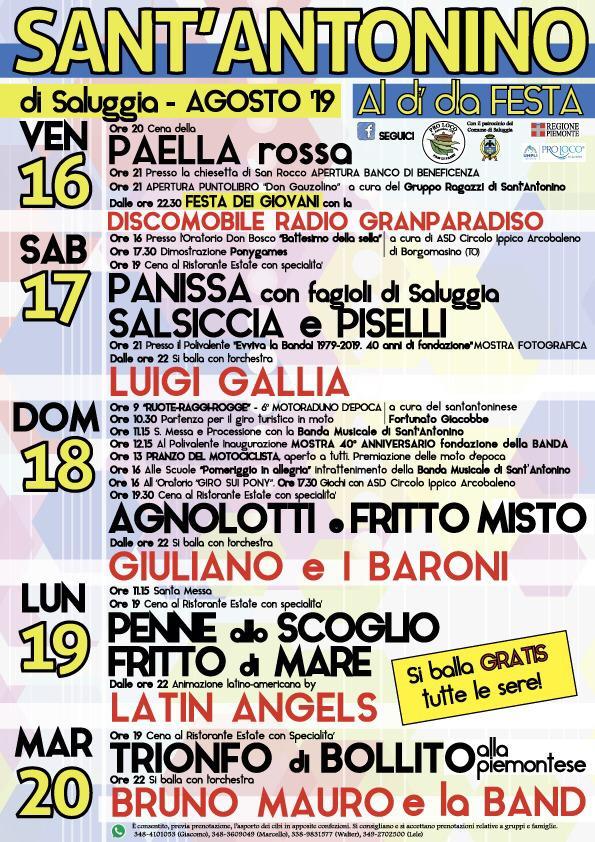 SALUGGIA (VC): Al dì dla festa 2019 a Sant'Antonino