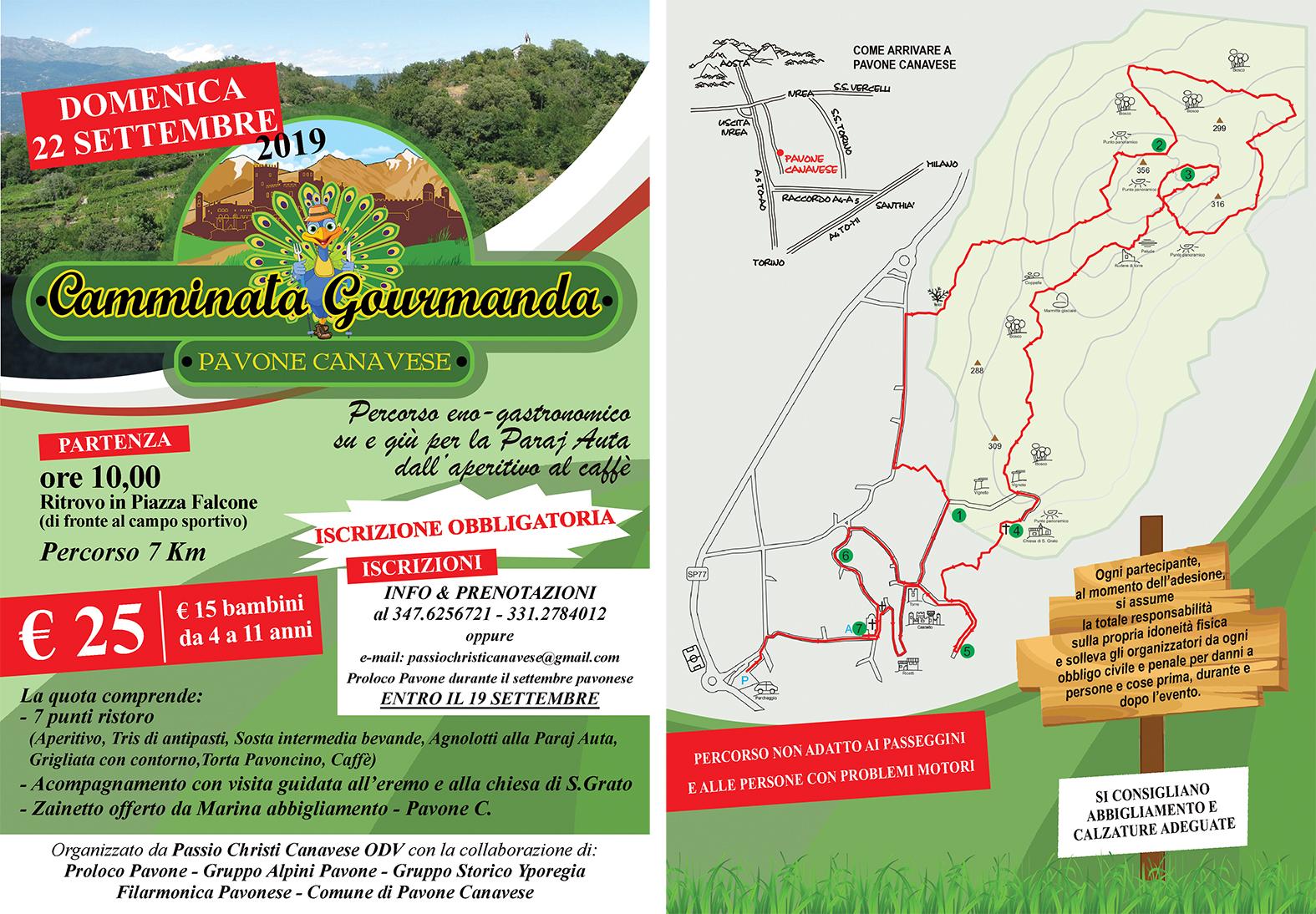 PAVONE CANAVESE (TO): Camminata gourmanda 2019