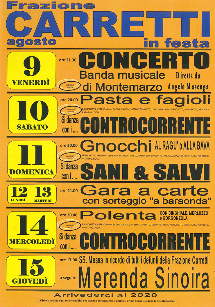 ASTI: Carretti in Festa 2019