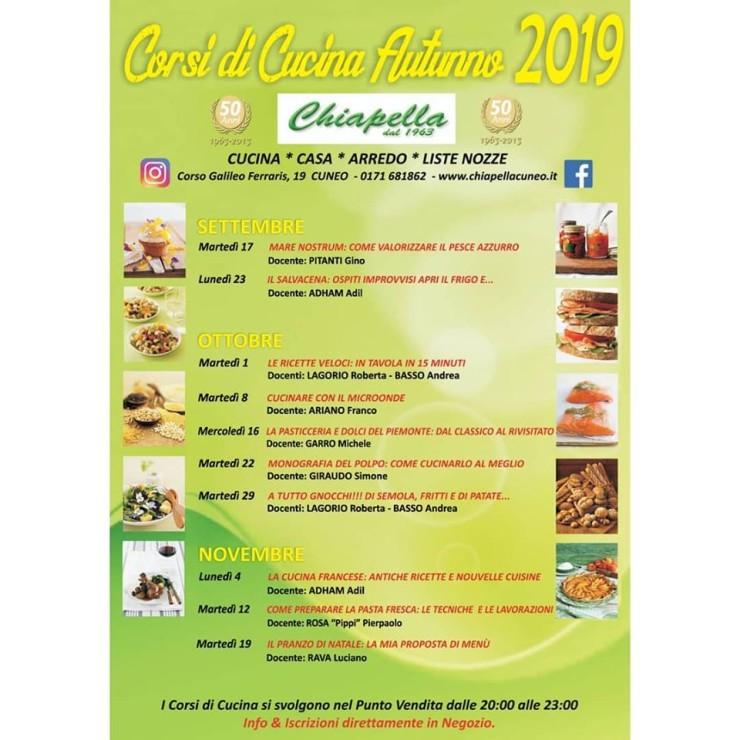 CUNEO: Corso di cucina da Chiapellla - autunno 2019
