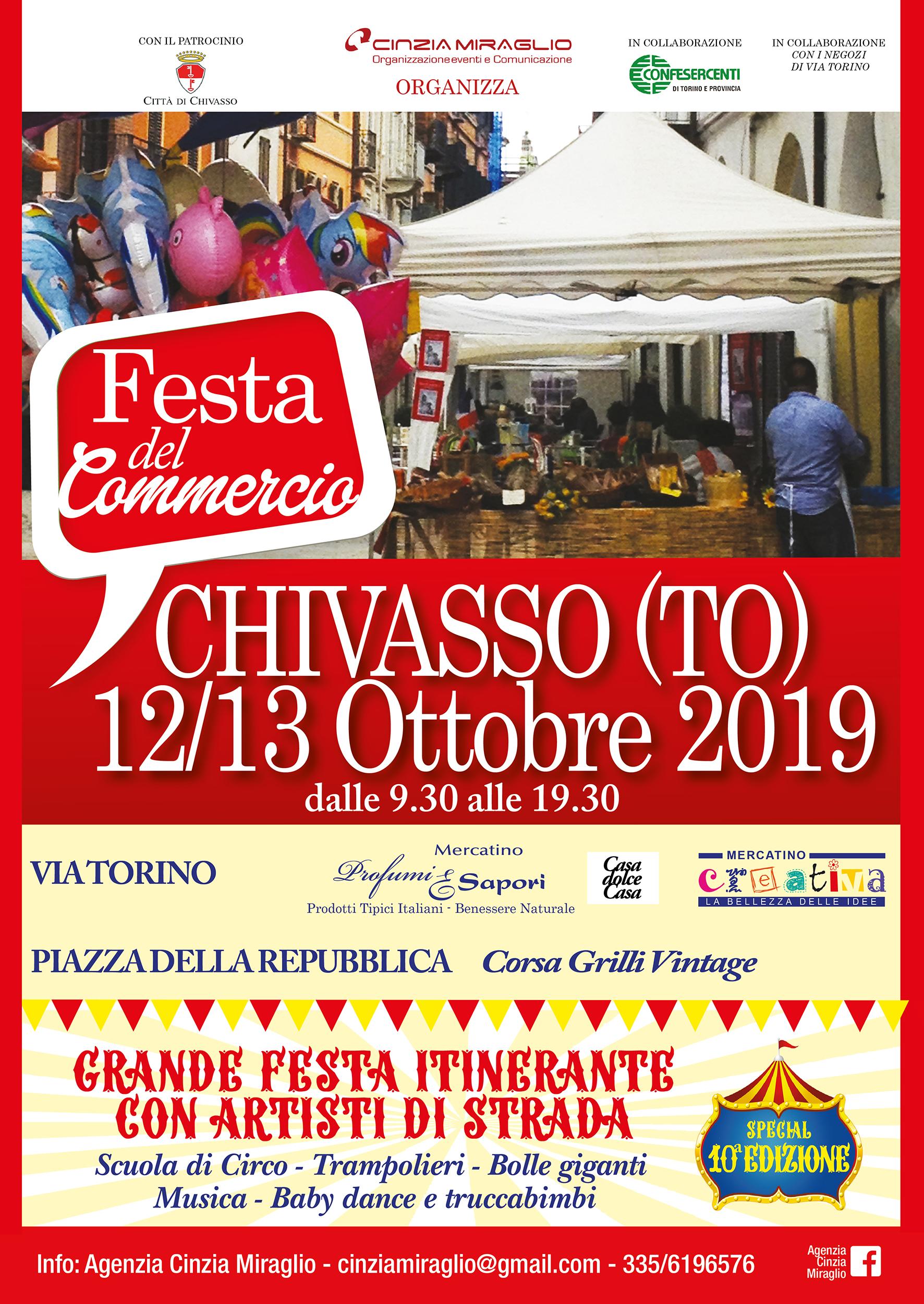CHIVASSO (TO): Festa del Commercio 2019 - Circus Edition
