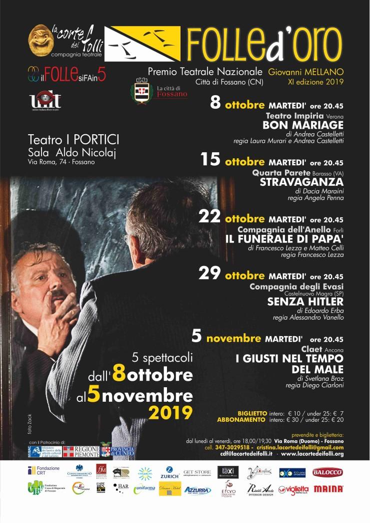 FOSSANO: Folle d'oro 2019 - Stravaganza di Dacia Maraini