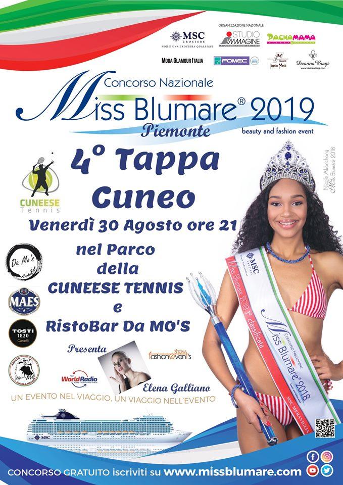 CUNEO: Miss Blumare Piemonte 2019