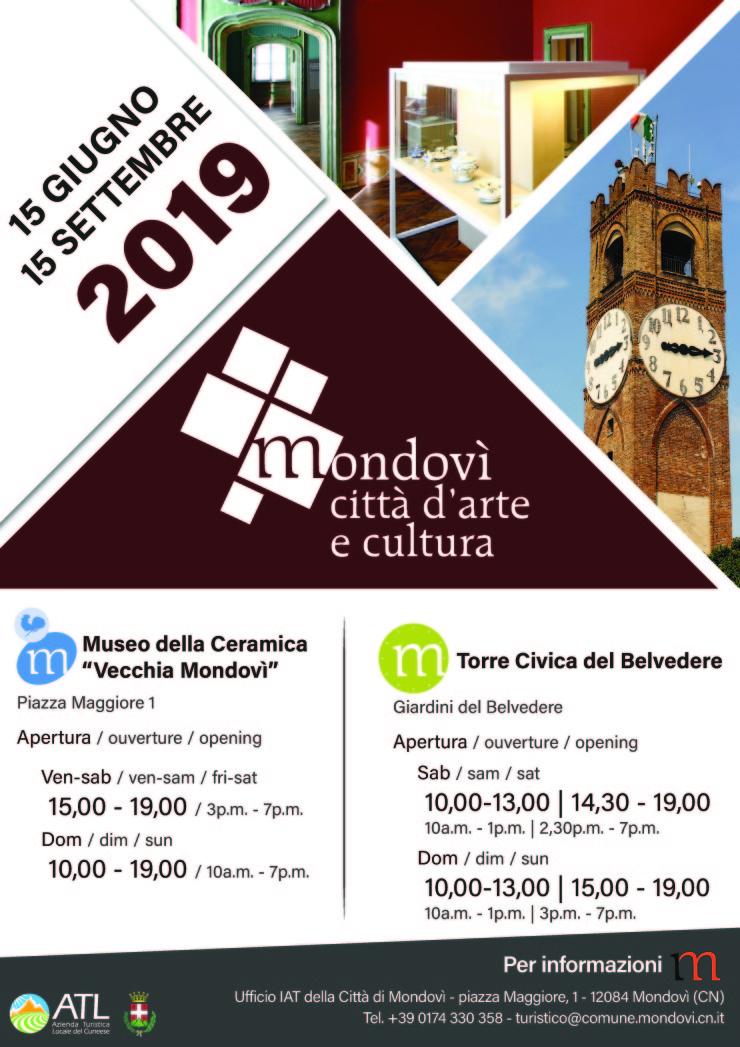 MONDOVI': Apertura Museo della Ceramica e Torre del Belvedere