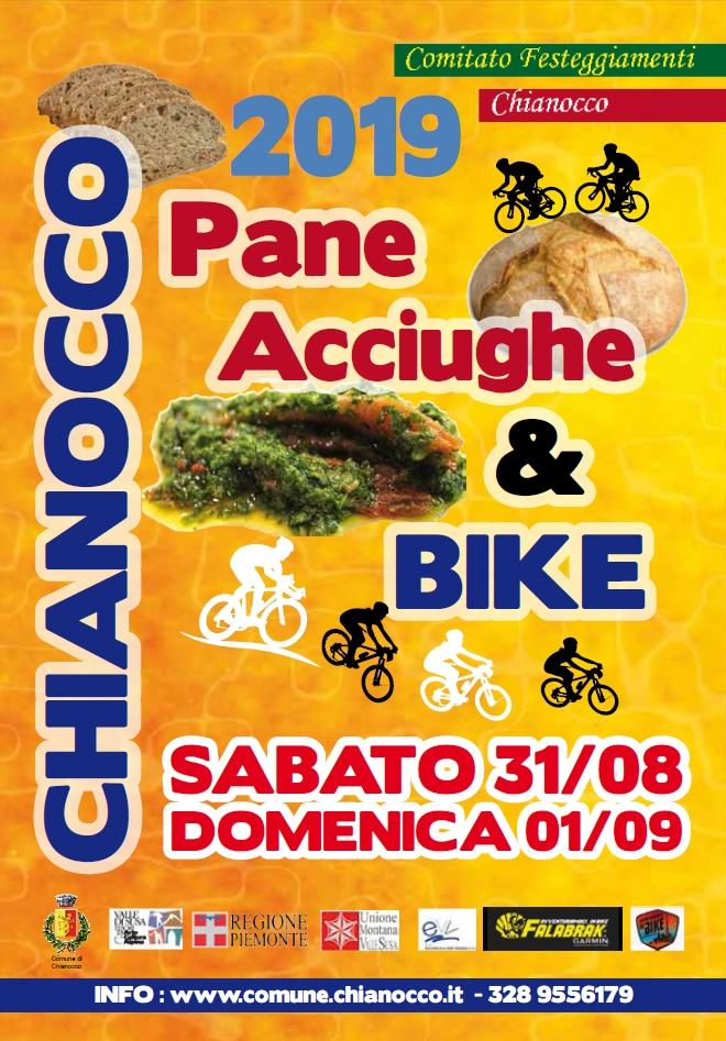 CHIANOCCO (TO): Pane Acciughe & Bike 2019