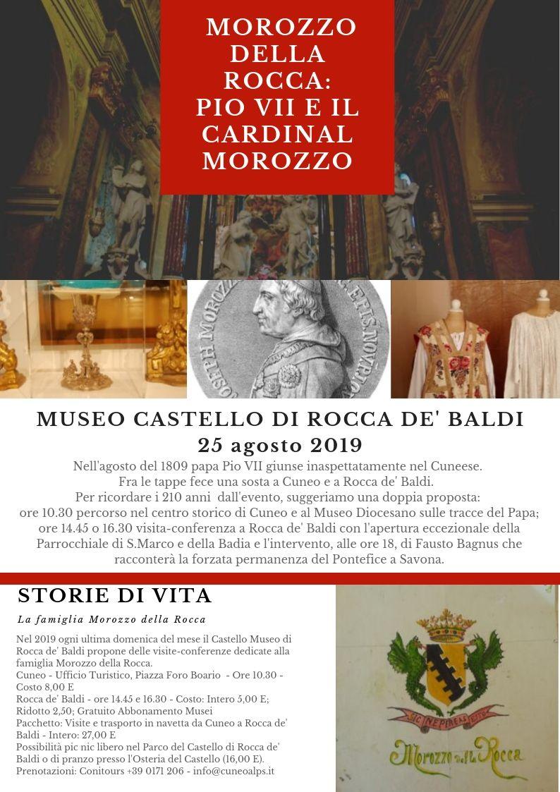 CUNEO-ROCCA DE' BALDI: Il viaggio nella Granda di Pio VII prigioniero