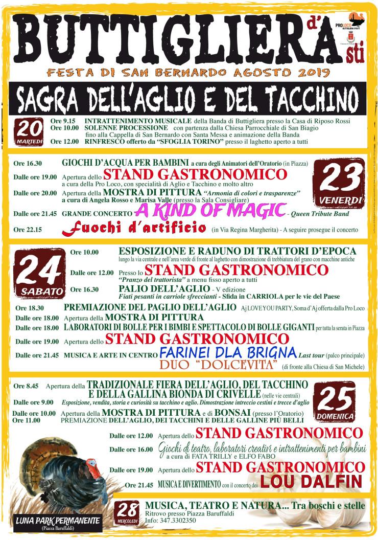 BUTTIGLIERA D'ASTI (AT): Sagra dell'aglio e del tacchino 2019