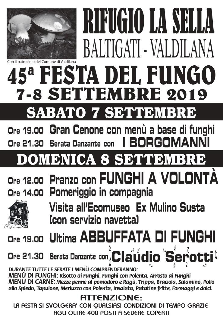 VALDILANA (BI): Sagra del Fungo 2019