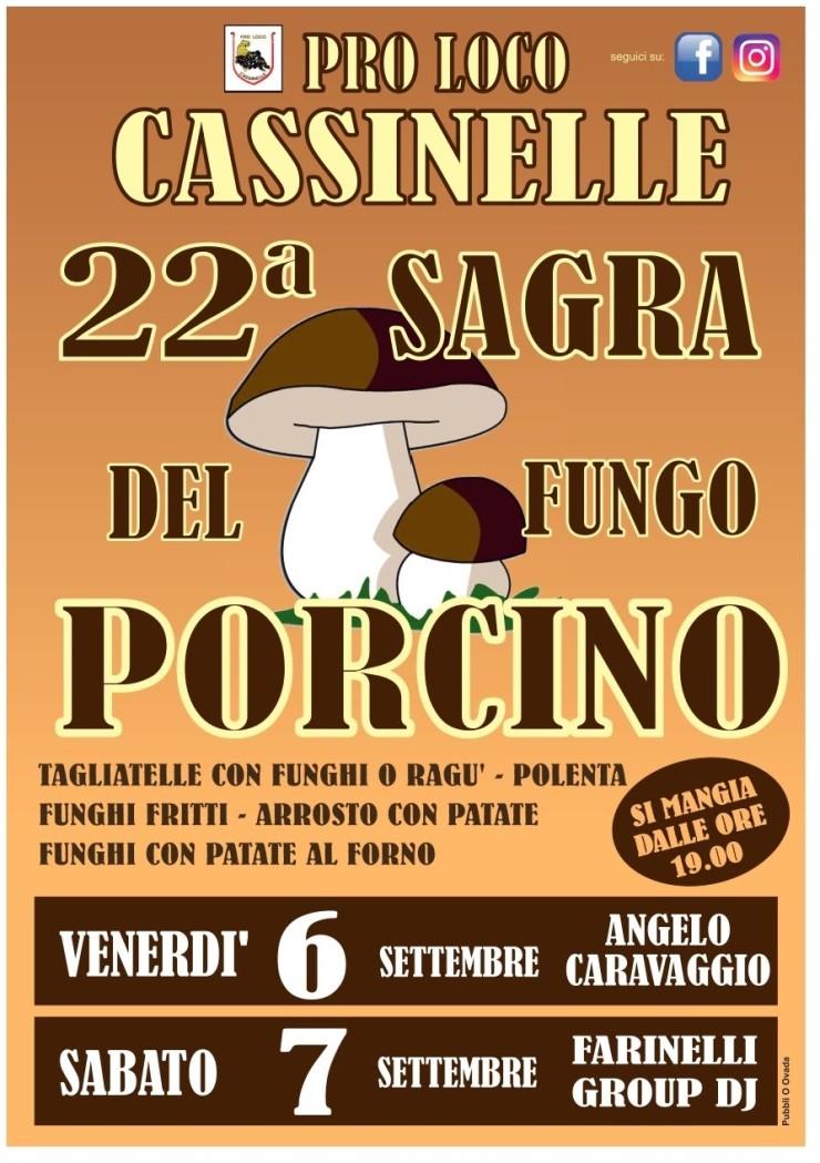 CASSINELLE (AL): Sagra del Fungo Porcino 2019