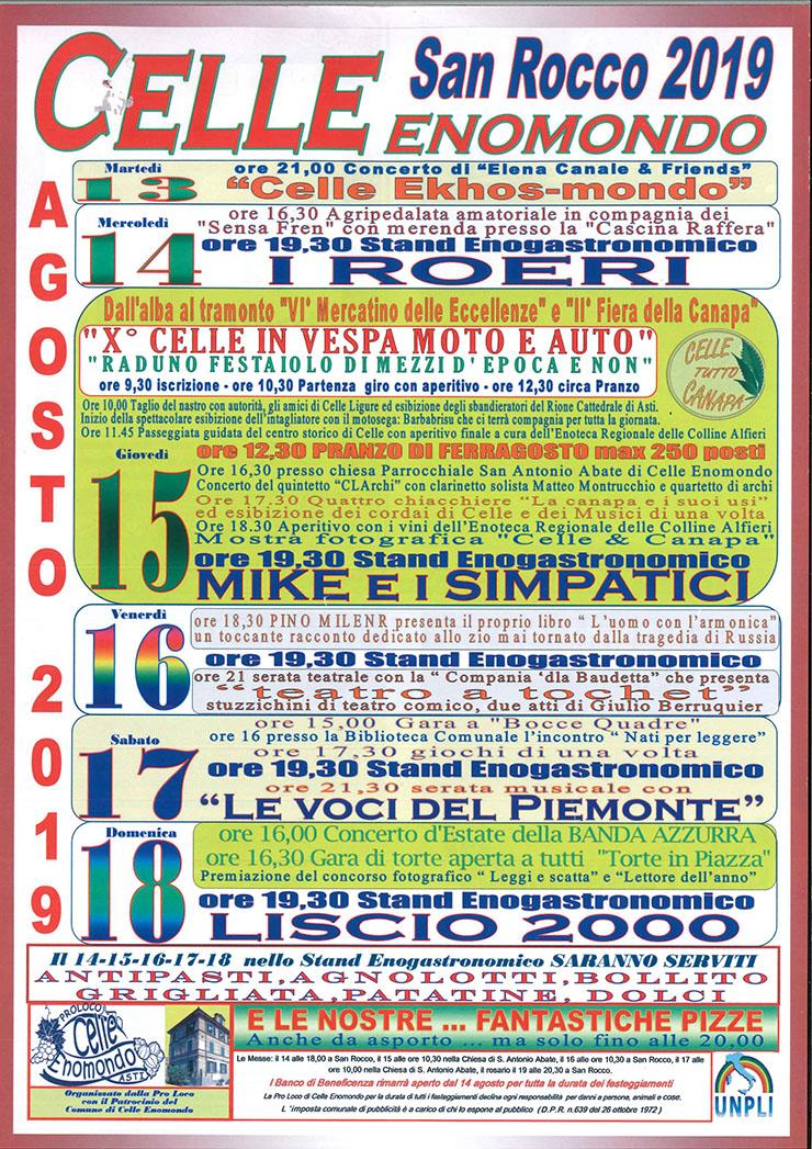 CELLE ENOMONDO (AT): Festa di San Rocco 2019