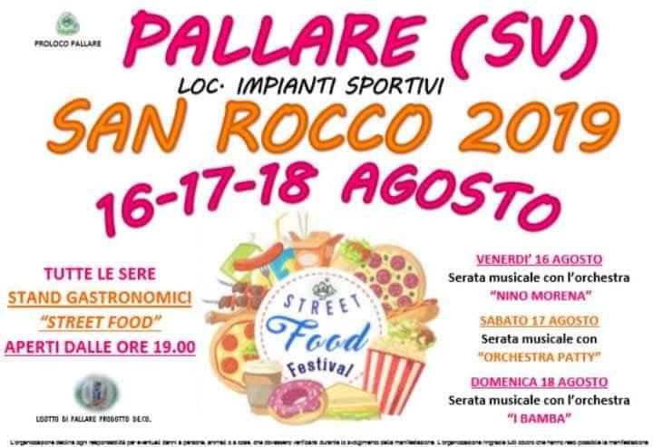 PALLARE (SV): Festa di San Rocco 2019