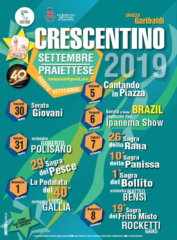 CRESCENTINO (VC): Settembre Praiettese 2019