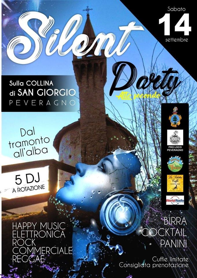 PEVERAGNO: Silent Party 2019 sulla collina di San Giorgio