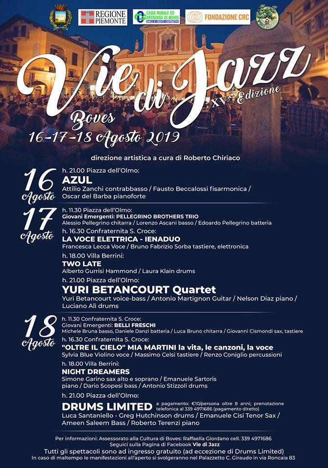 BOVES: Vie di Jazz 2019