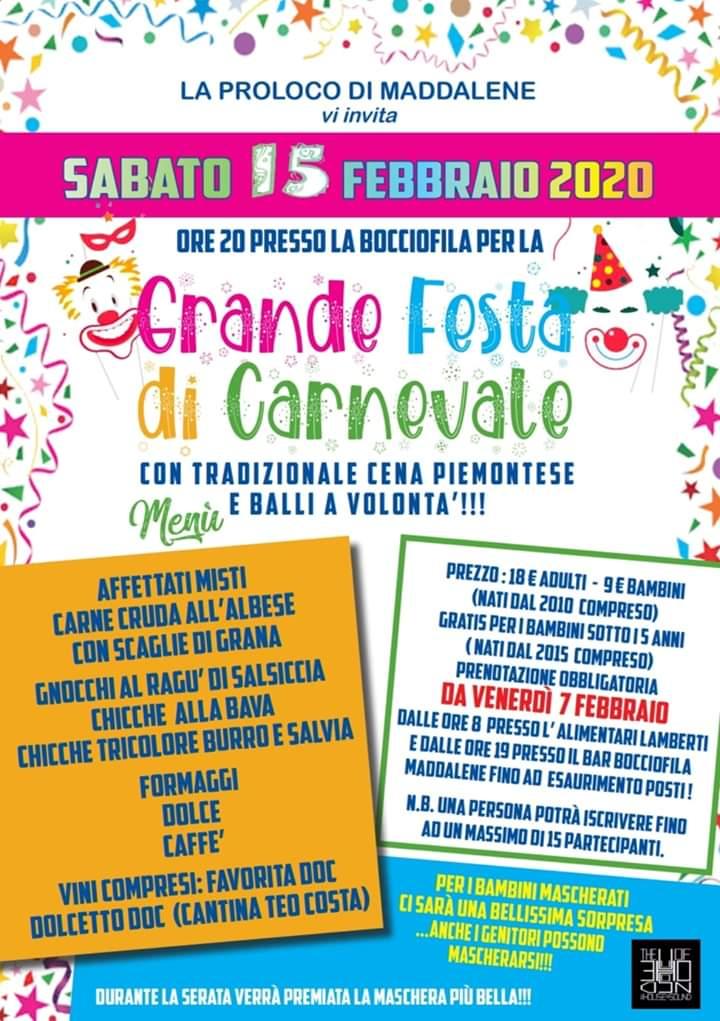 FOSSANO: Carnevale di Maddalene 2020