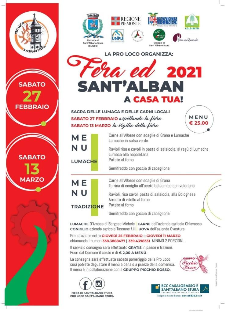 Fera 'd Sant Alban 2021 - La Fiera di Sant'Albano Stura a casa tua