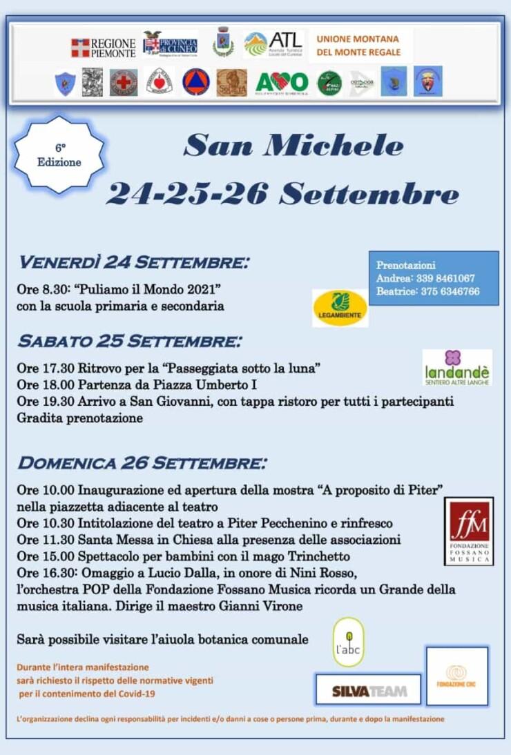 SAN MICHELE MONDOVI': Festa patronale di San Michele 2021