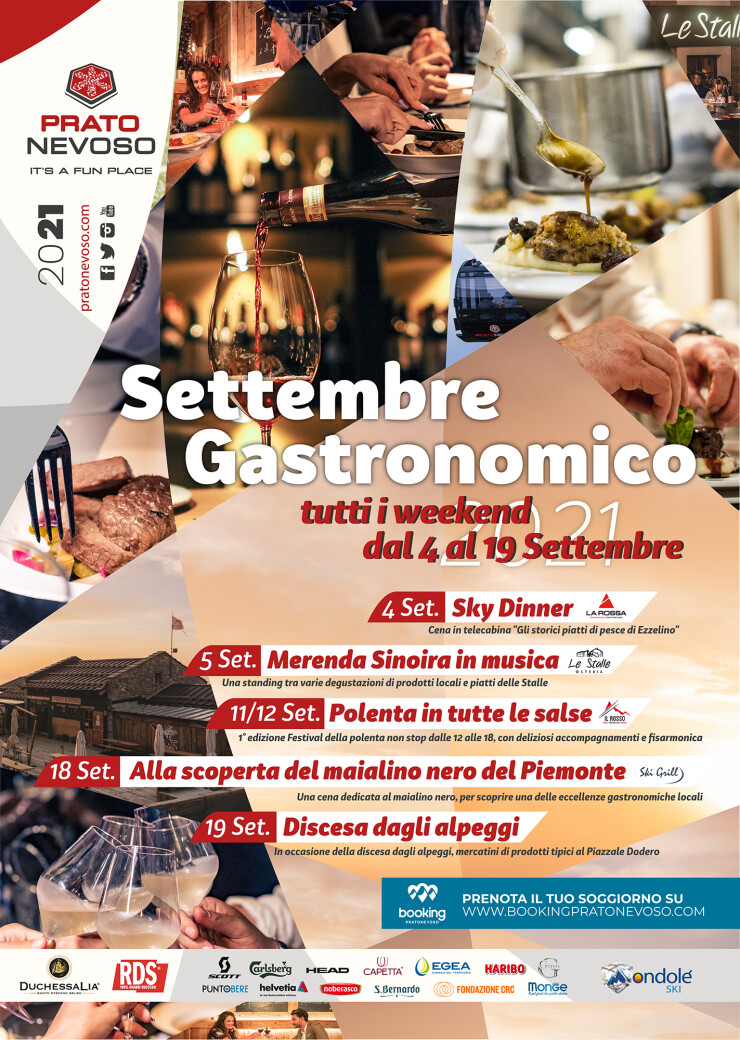 FRABOSA SOTTANA: Settembre gastronomico 2021 a Prato Nevoso